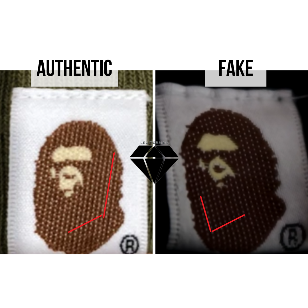 How to spot a fake Bape Shark hoodie | Bape Logo Real vs Fake