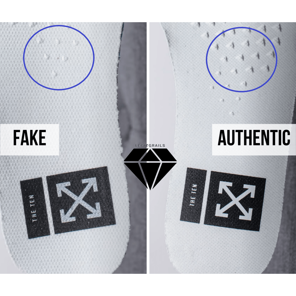 How to Spot Fake Off White Jordan 1 Chicago: The Insole Method