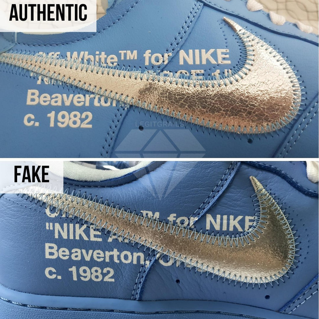 Nike Air Force 1 Off-White MCA Real VS Fake Guide: The Inner Swoosh Method