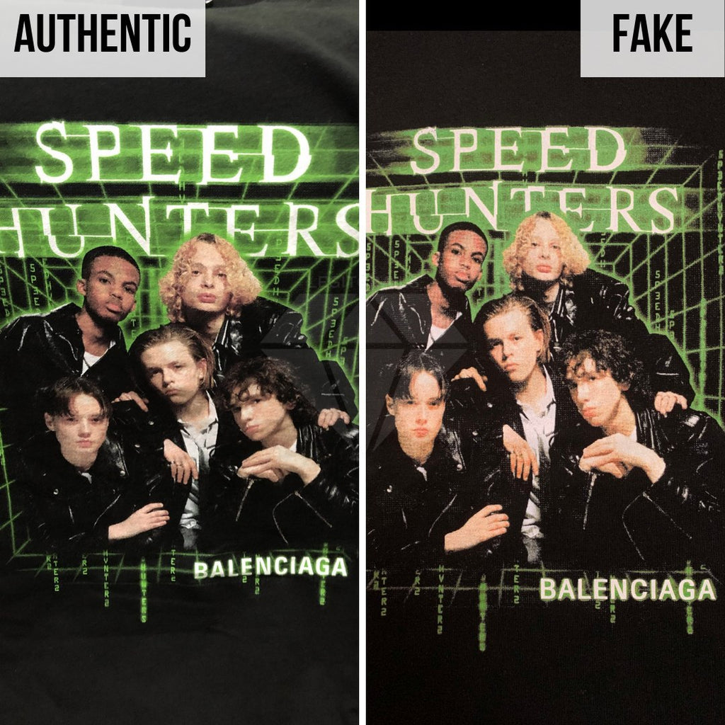How To Spot A Fake Balenciaga Speedhunters T-shirt: The Front Print Method
