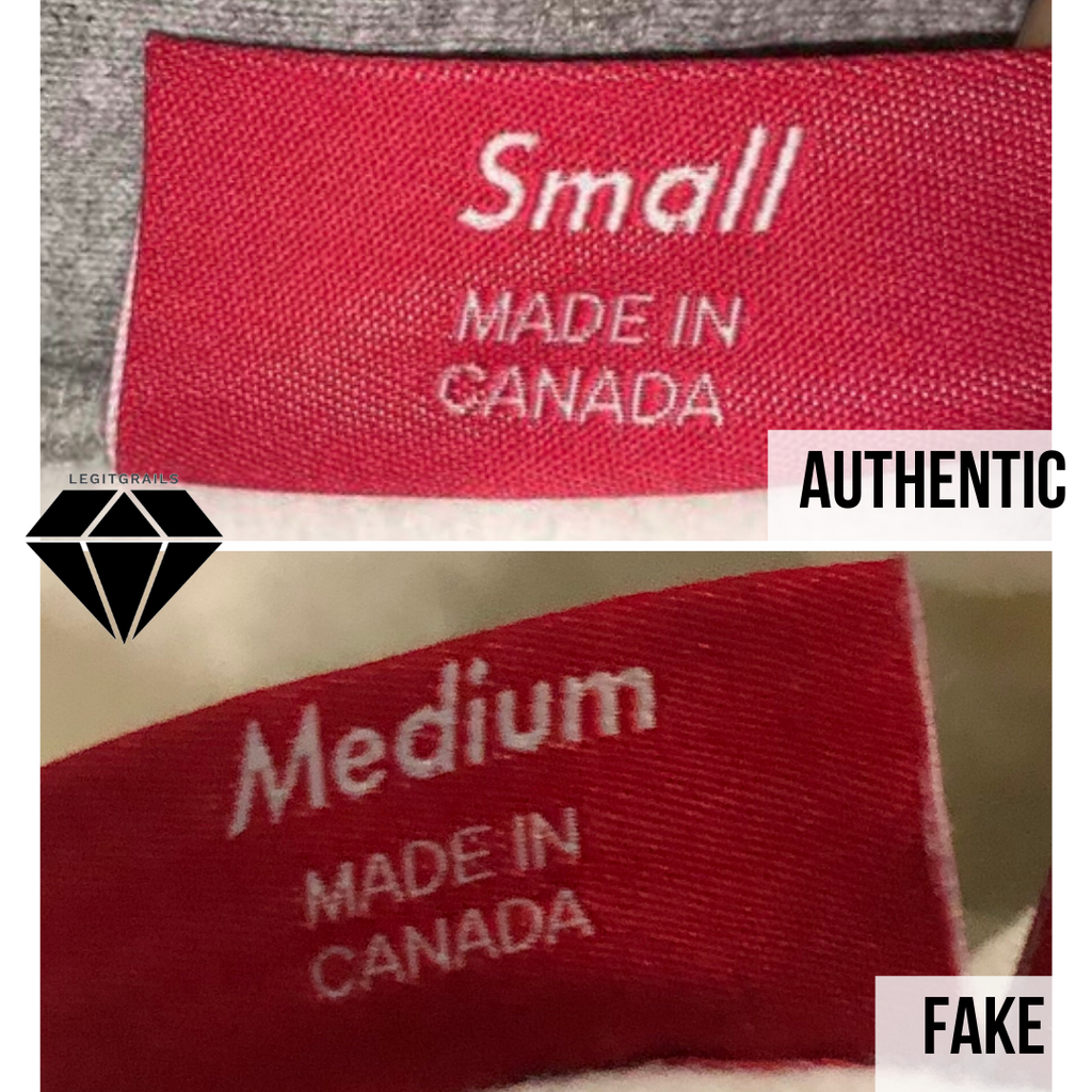 How to spot fake Supreme Box Logo hoodie: the backside neck tag method