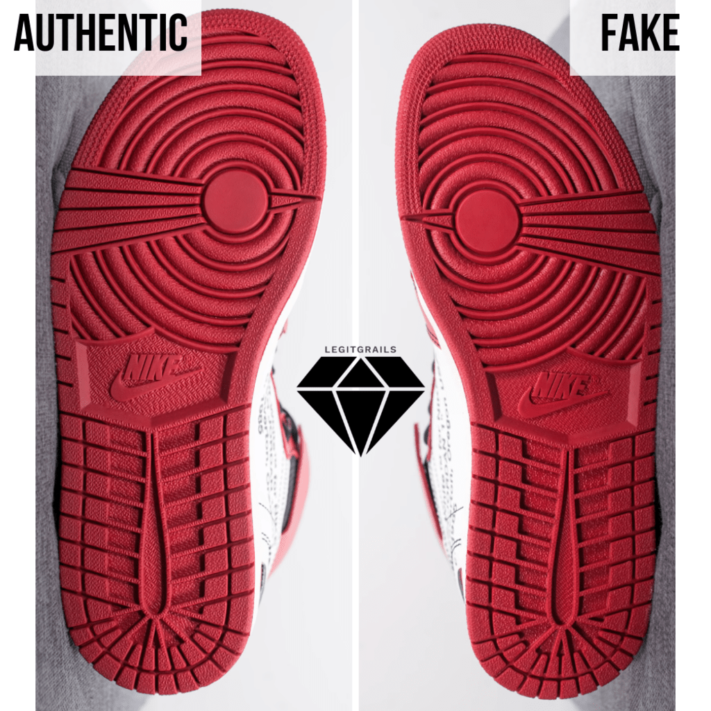 How to Spot Fake Off White Jordan 1 Chicago: The Outsole Colour Method