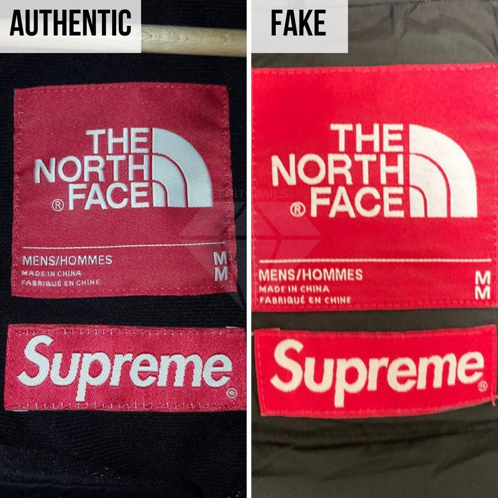 Supreme The North Face Mountain Baltoro Jacket Fake VS Real Guide: The Neck Tag Method