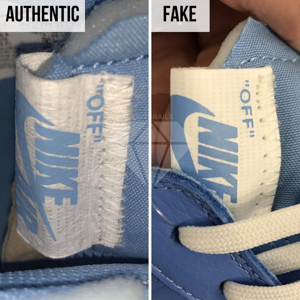 Nike Air Force 1 Off-White MCA Real VS Fake Guide: The Nike Tongue Tag Method