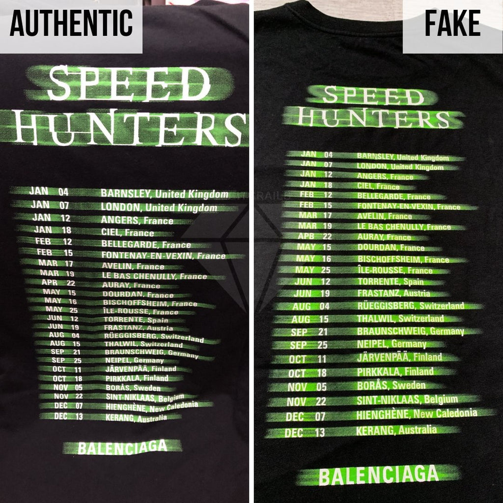 How To Spot A Fake Balenciaga Speedhunters T-shirt: The Back Print Method