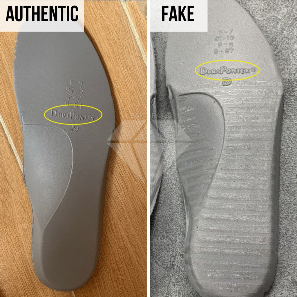 Air Jordan 13 Flint Fake vs Real Guide: The Underside of the Insole method