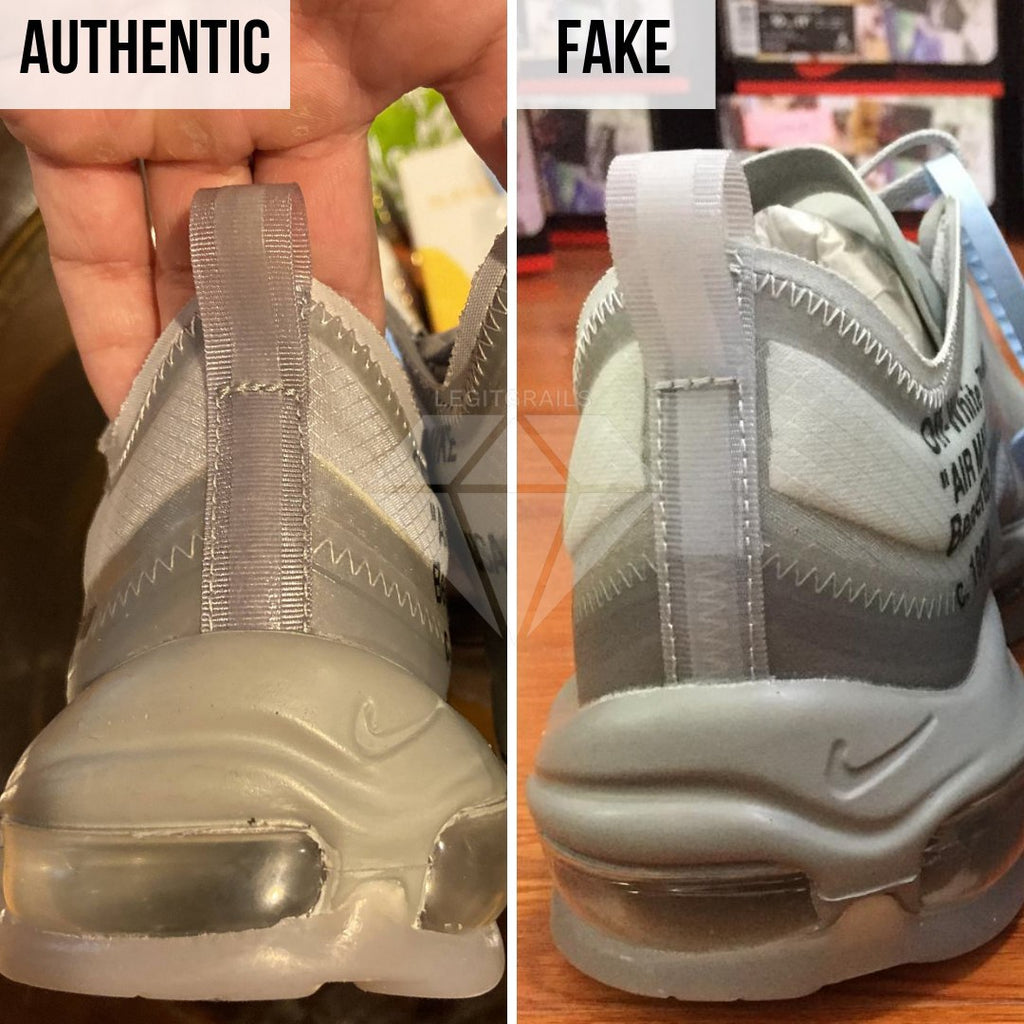 How to Spot Fake Air Max Off-White 97 Menta: The Heel Method
