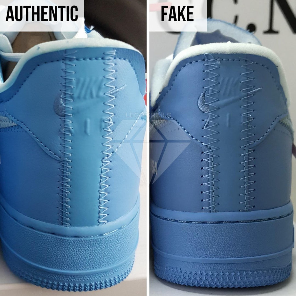 Nike Air Force 1 Off-White MCA Real VS Fake Guide: The Heel Method