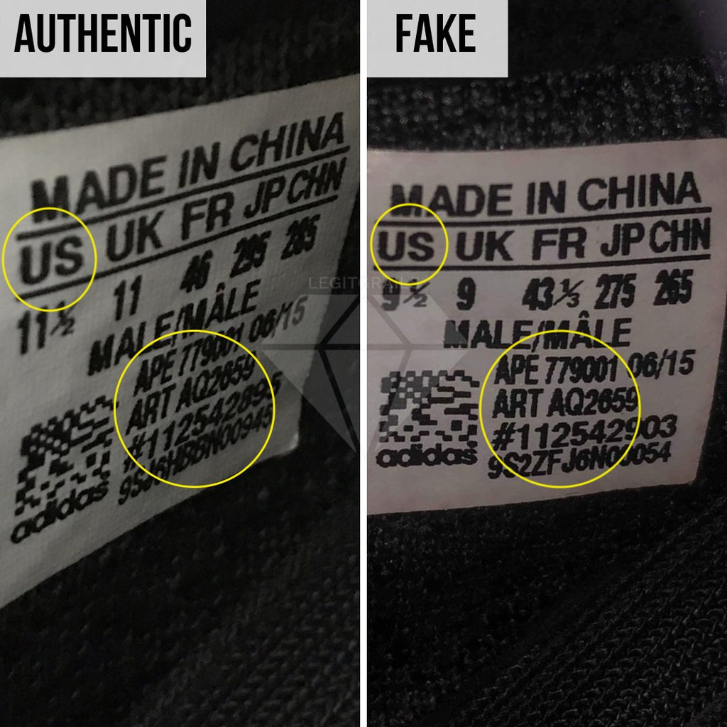 How To Spot Fake Yeezy Boost 350 V1: The Size Tag Method