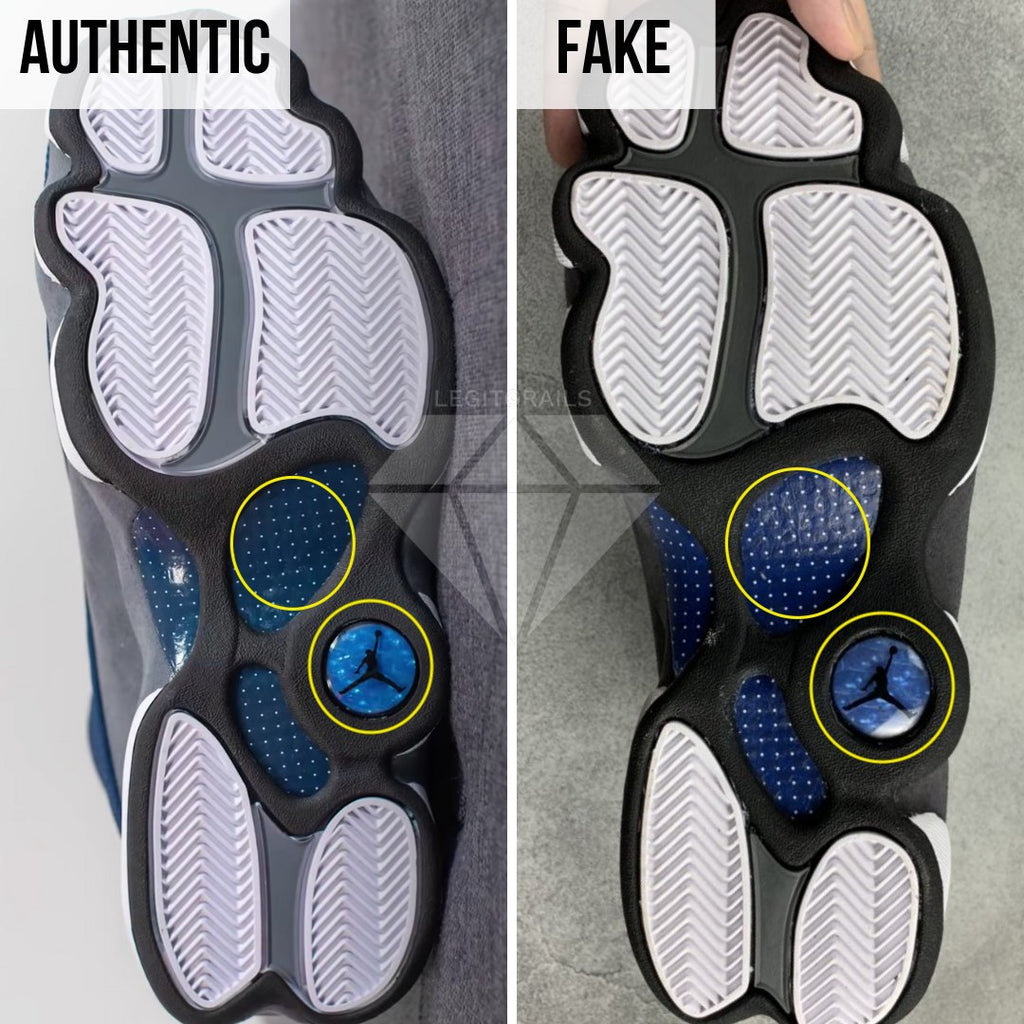 Air Jordan 13 Flint Fake vs Real Guide: The Outsole Method