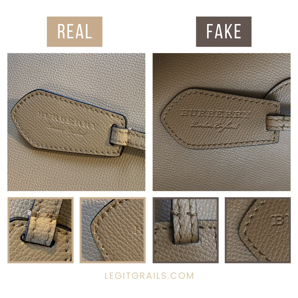 Burberry Lavenby Reversible Tote Real VS Fake