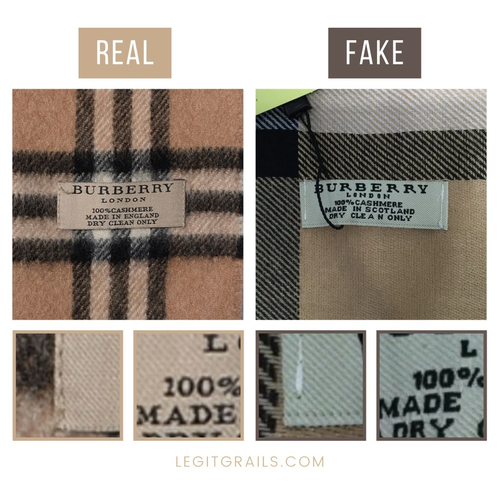 Burberry Scarf Real Vs Fake