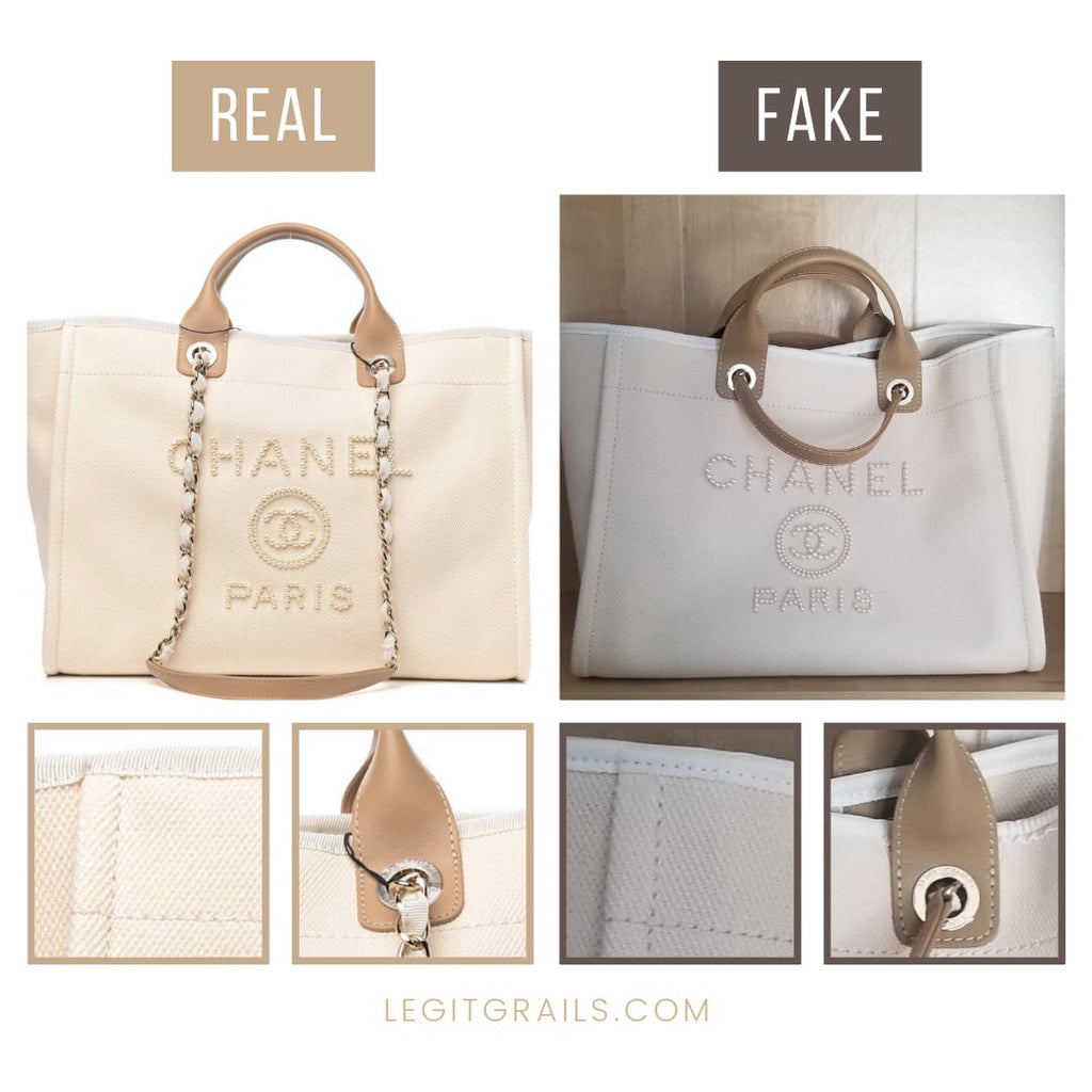 Chanel Deauville Pearl Tote Bag Authentication