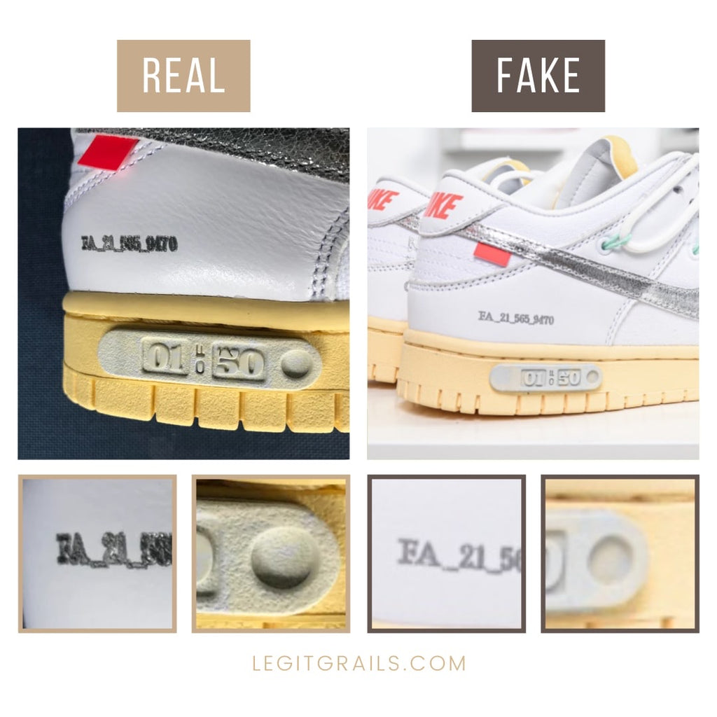 Fake Nike Dunk Off-White The 50 Sneakers