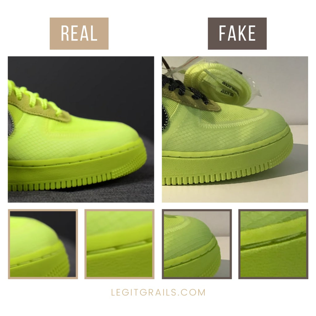 How To Authenticate Nike Air Force 1 Off White Volt
