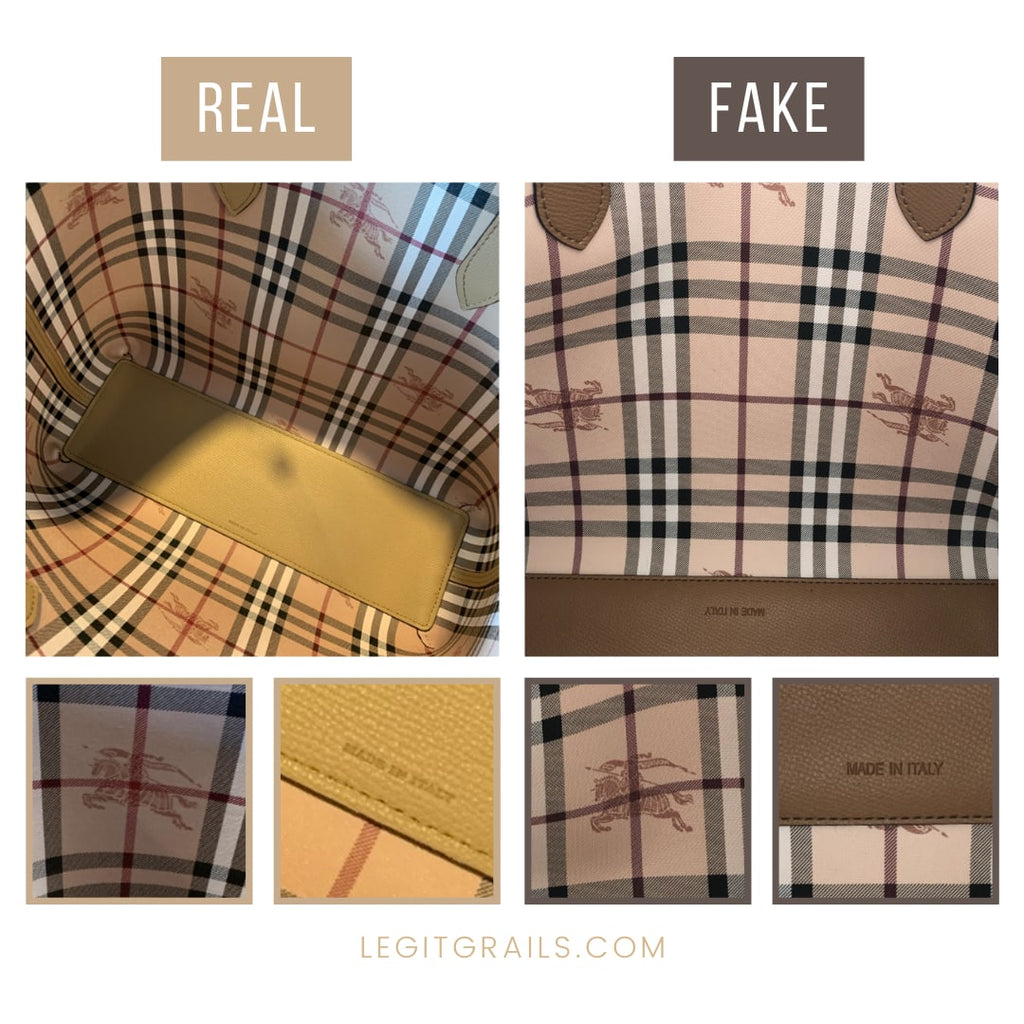How To Legit Check Burberry Lavenby Reversible Tote