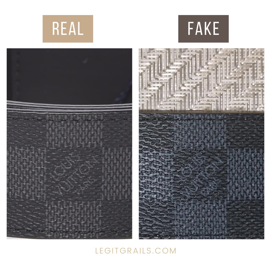 How To Spot Fake Louis Vuitton belt LV Initiales