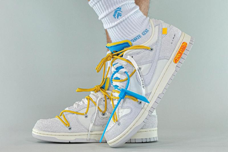 """How To Spot Fake Nike Dunk Off-White """"The 50"""" Sneakers"""