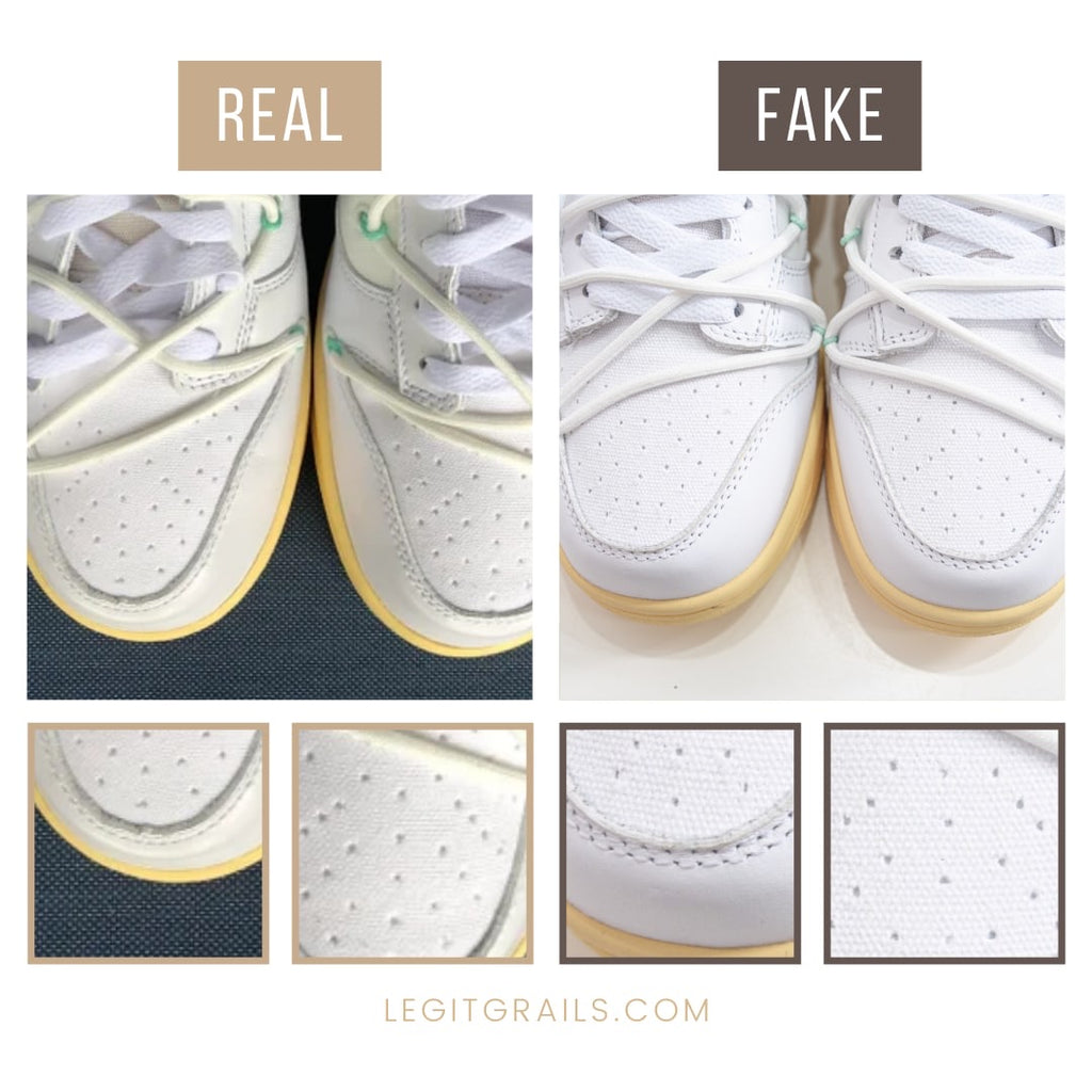 How To Spot Fake Nike Dunk Off-White The 50 Sneakers