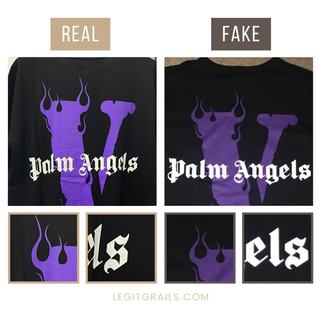 How To Spot Fake Vlone Palm Angels Staple Tee