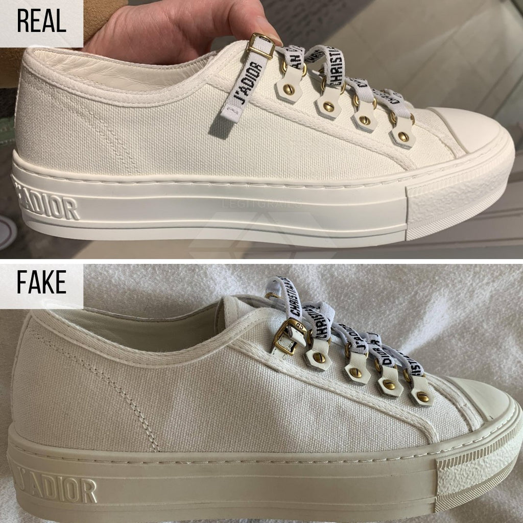 How To Spot Fake Walk'n'Dior Sneakers