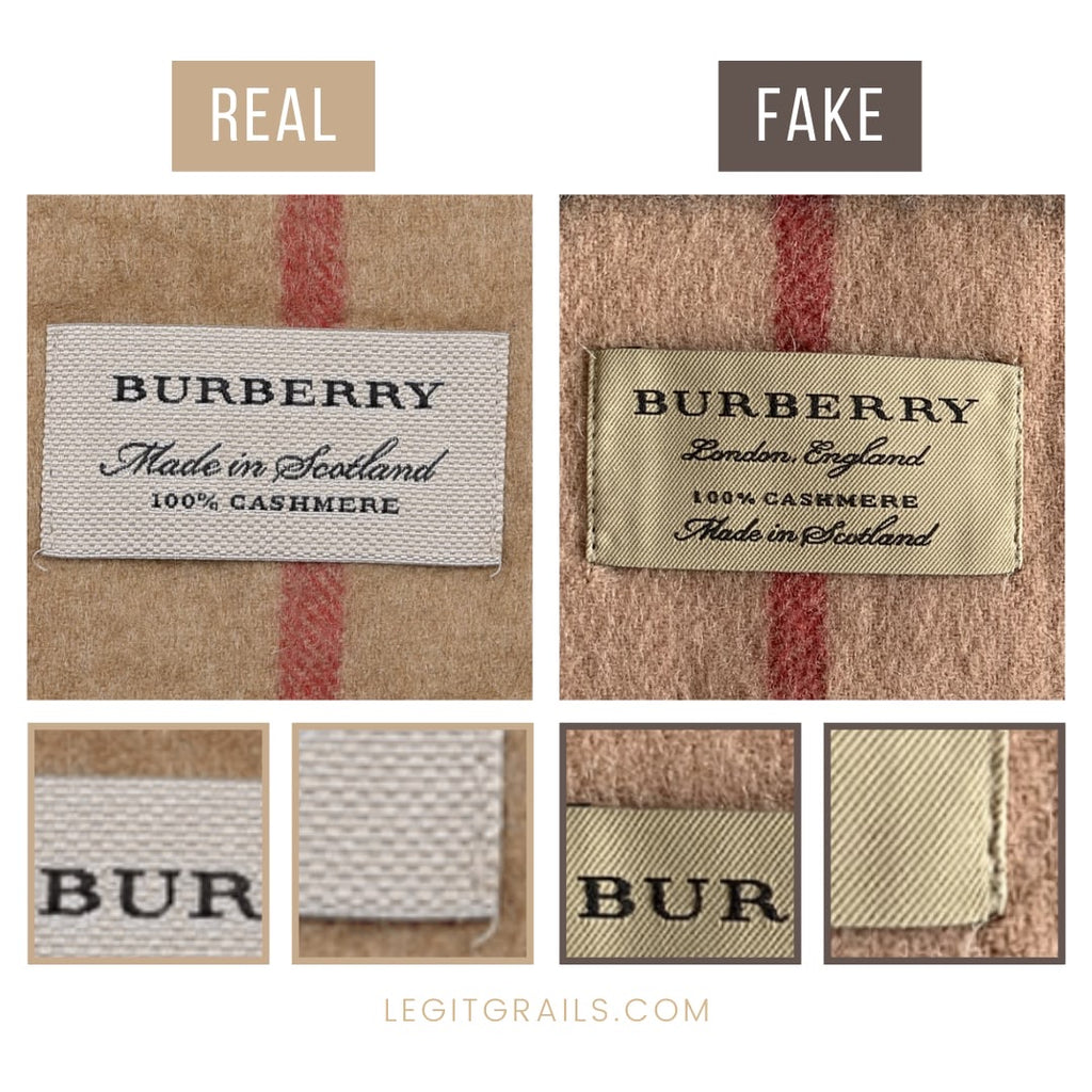 How To Tell If Burberry Scarf Is Fake