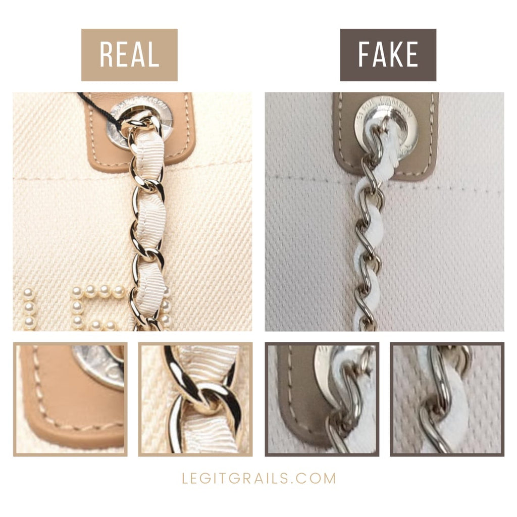 How To Tell If Chanel Deauville Pearl Tote Bag Is Fake