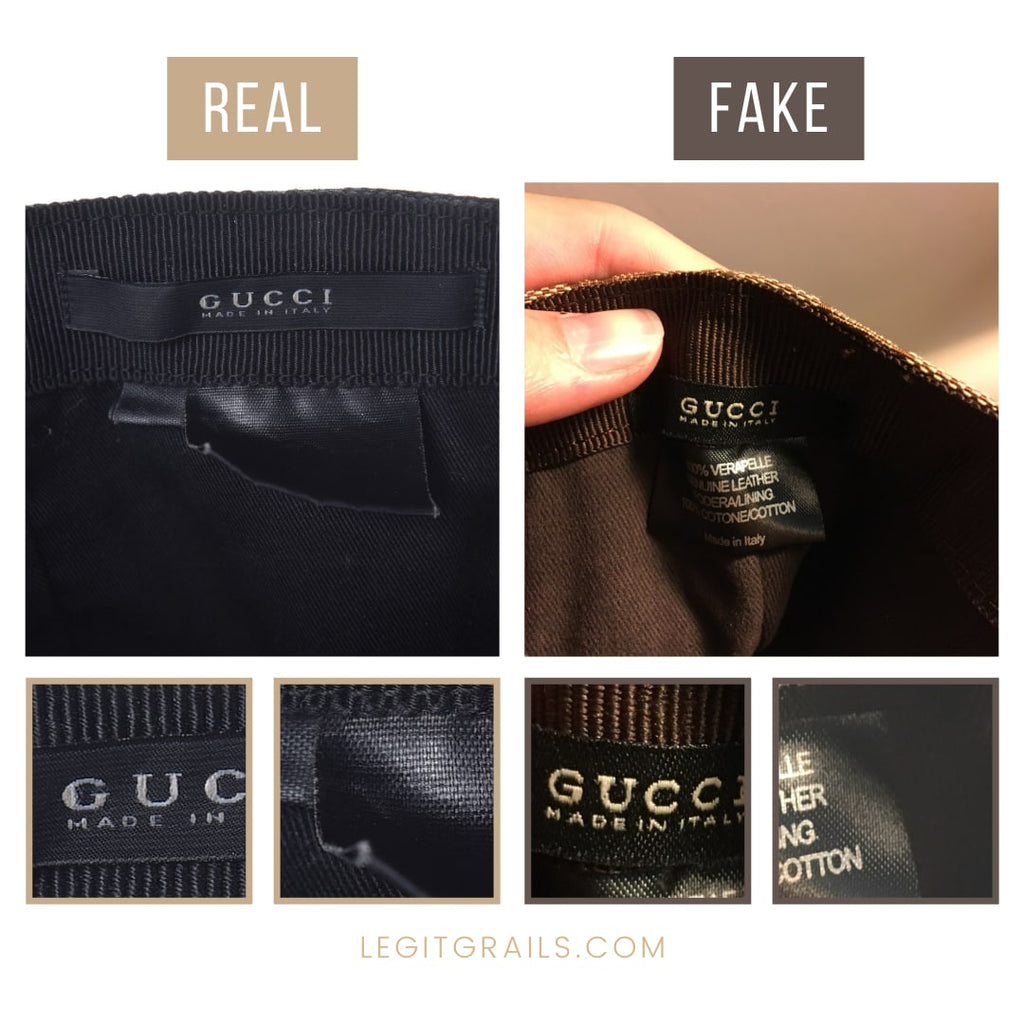 How To Tell If Gucci Cap Is Fake