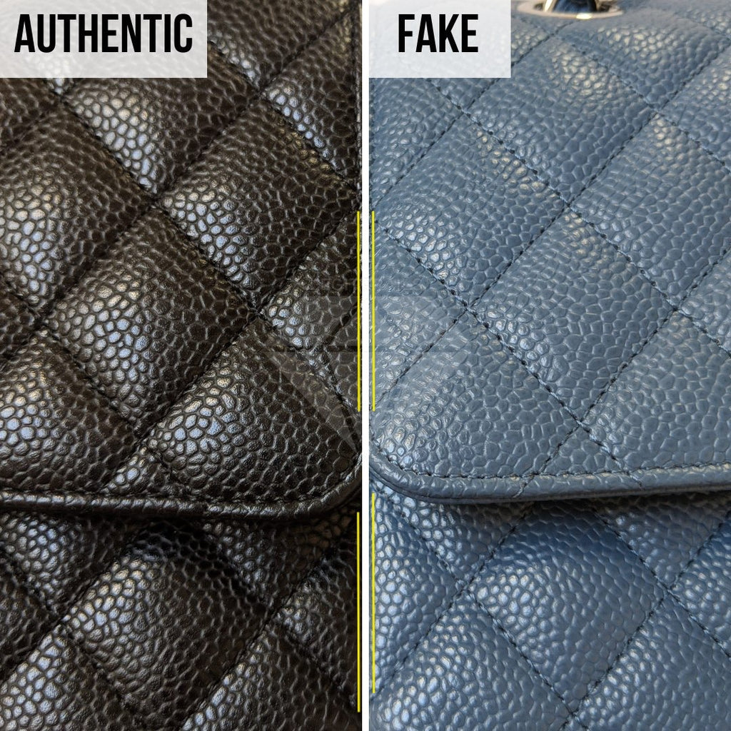 How To Legit Check Chanel Classic Bag: The Caviar Leather Method (Higher-Quality Replica)