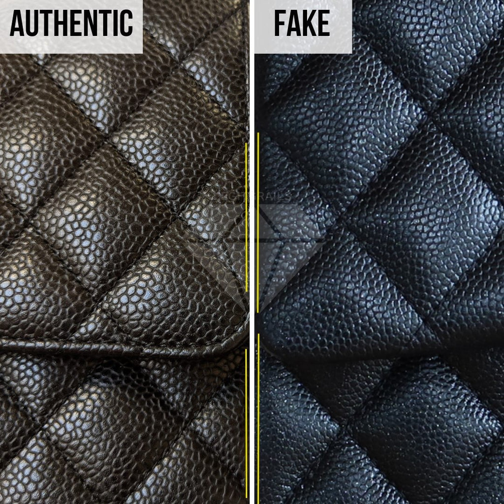 How To Legit Check Chanel Classic Bag: The Caviar Leather Method (Lower-Quality Replica)