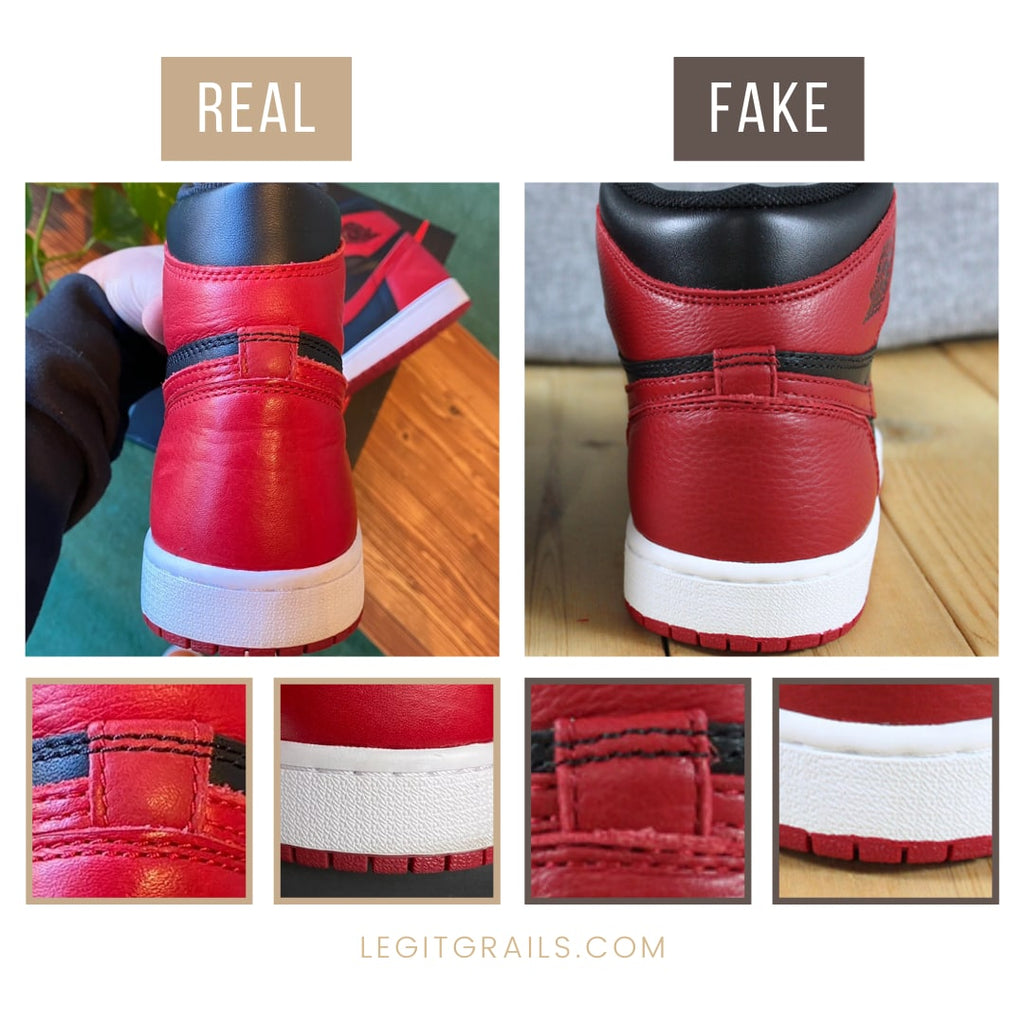 Jordan 1 Bred Banned Real vs Fake