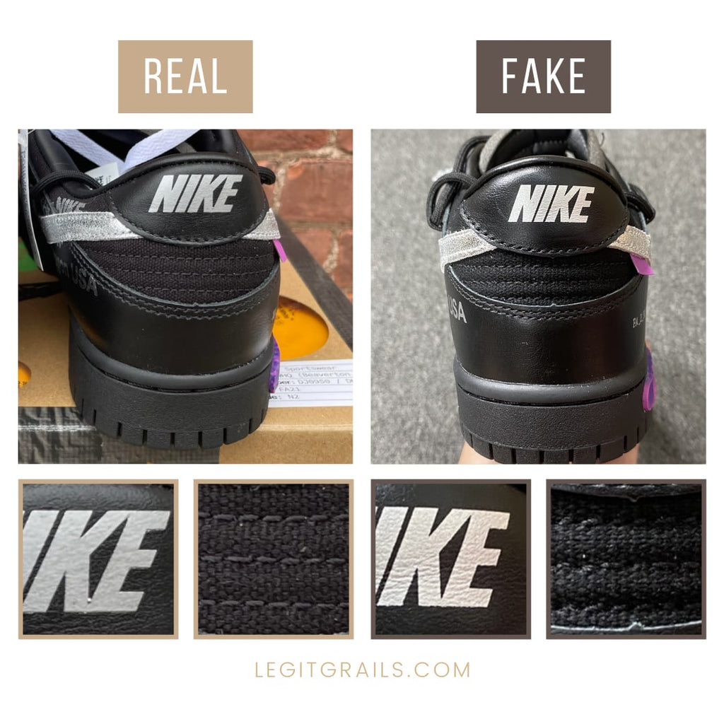Nike Dunk Off-White The 50 Sneakers Real Vs Fake