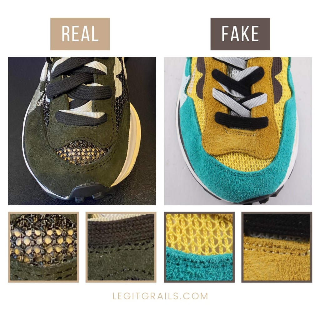 Nike Sacai VaporWaffle Fake vs Real