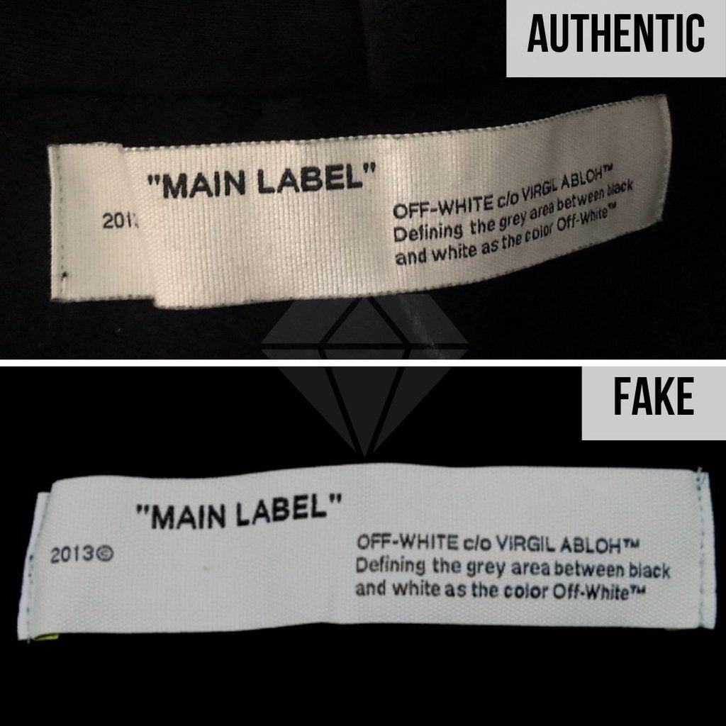 Off-White Hoodie Authentication - Real VS Fake Guide