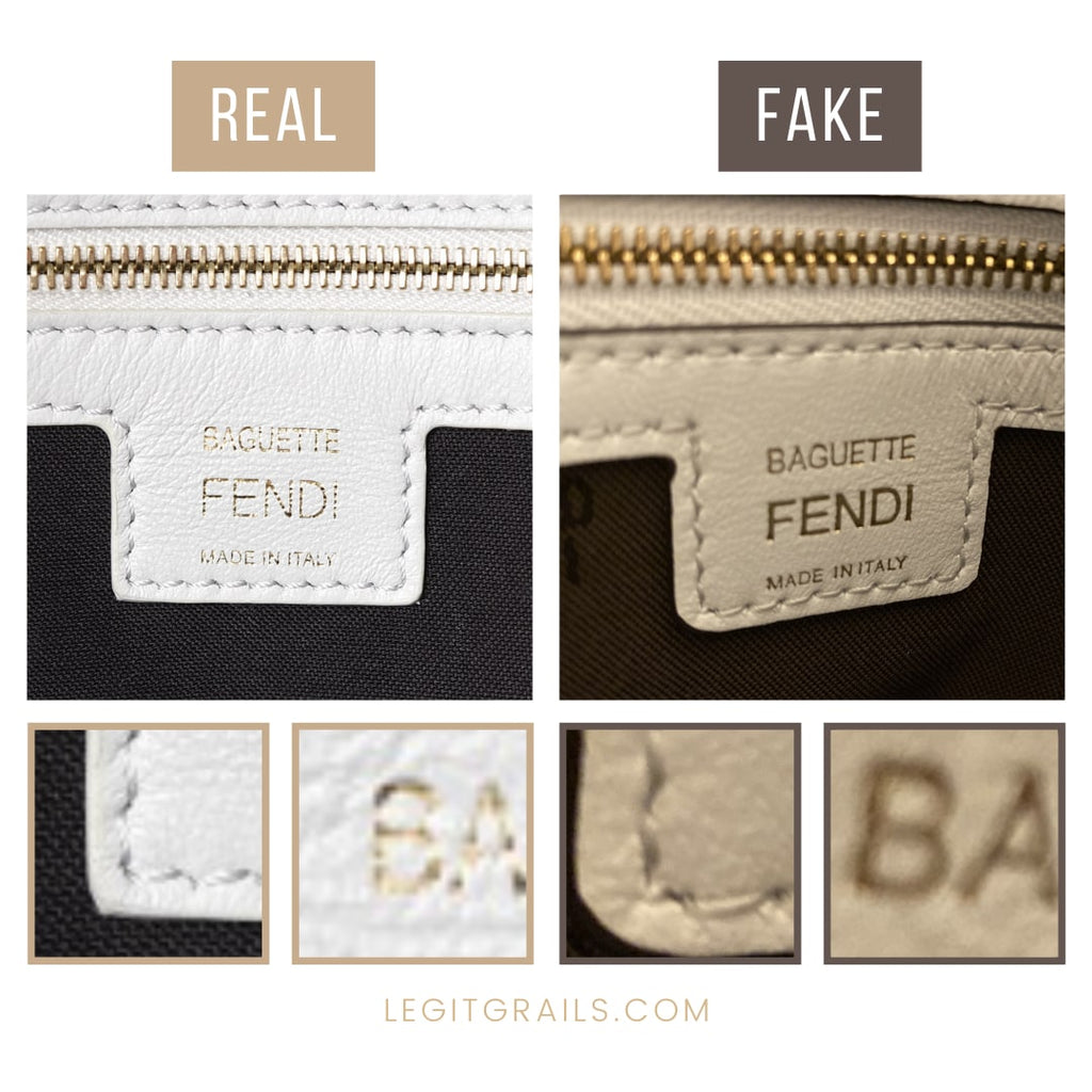 Real Vs Fake Fendi Baguette Bag