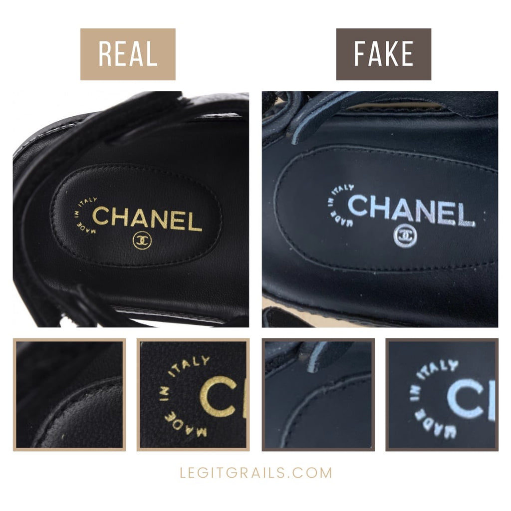 Real Vs Fake Chanel Dad Sandals