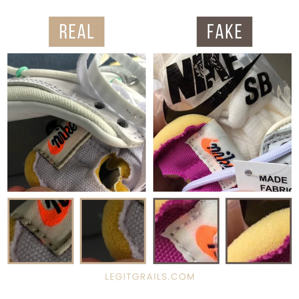 Real Vs Fake Nike Dunk Off-White The 50 Sneakers
