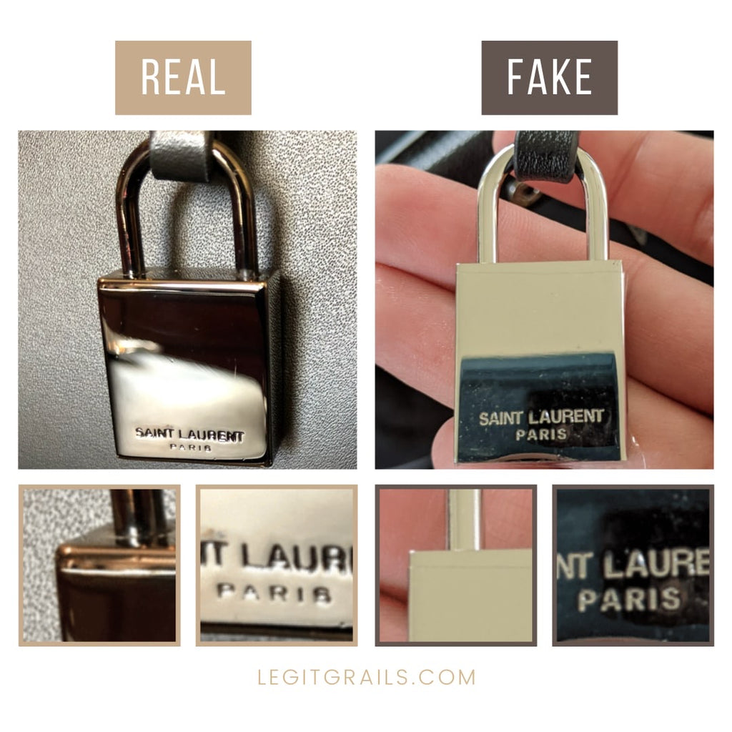 Real Vs Fake Saint Laurent Sac De Jour Bag