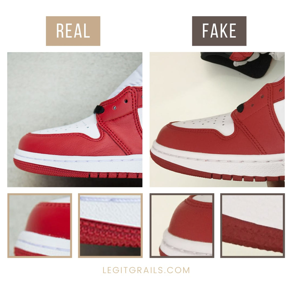 Real vs Fake Jordan 1 Chicago