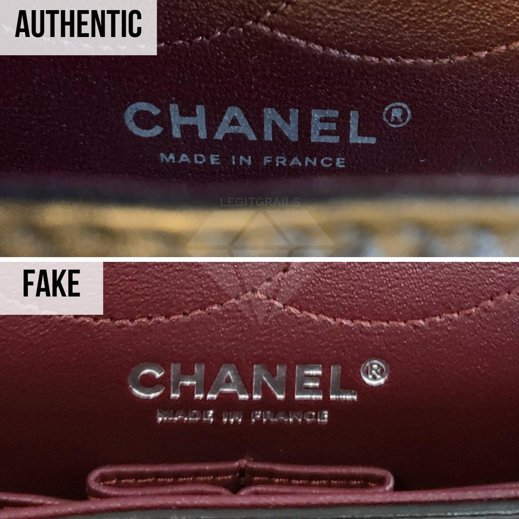 Chanel 2.55 Bag Authentication Guide: The Inner Logo Print Method
