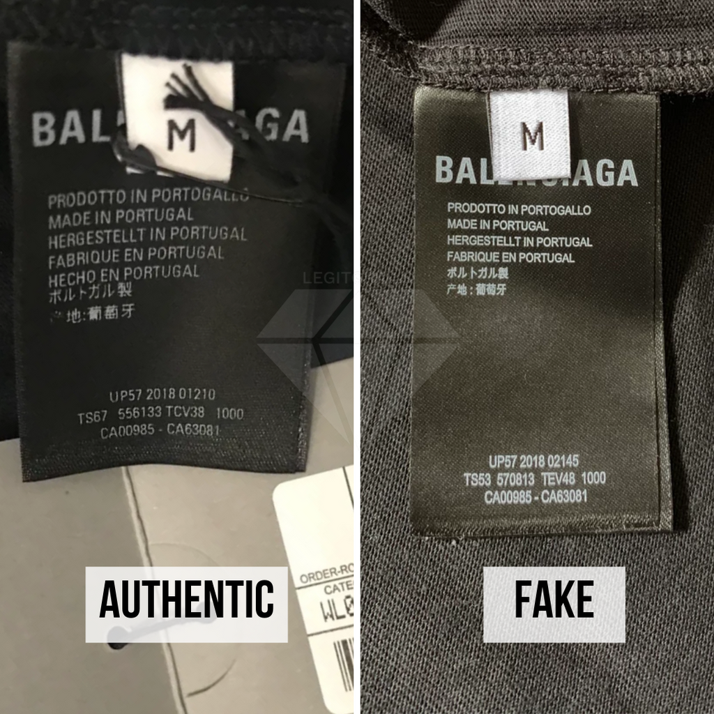 How To Spot A Fake Balenciaga Speedhunters T-Shirt: The Size Tag and Wash Tag Method