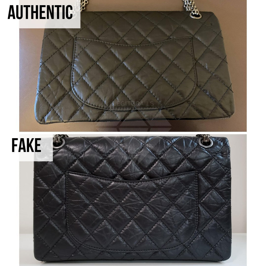 Chanel 2.55 Bag Authentication Guide: The Backside of the Bag Method