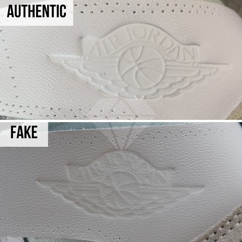 Jordan 1 Off White NRG Fake vs Real Guide: The Air Jordan Wings Logo