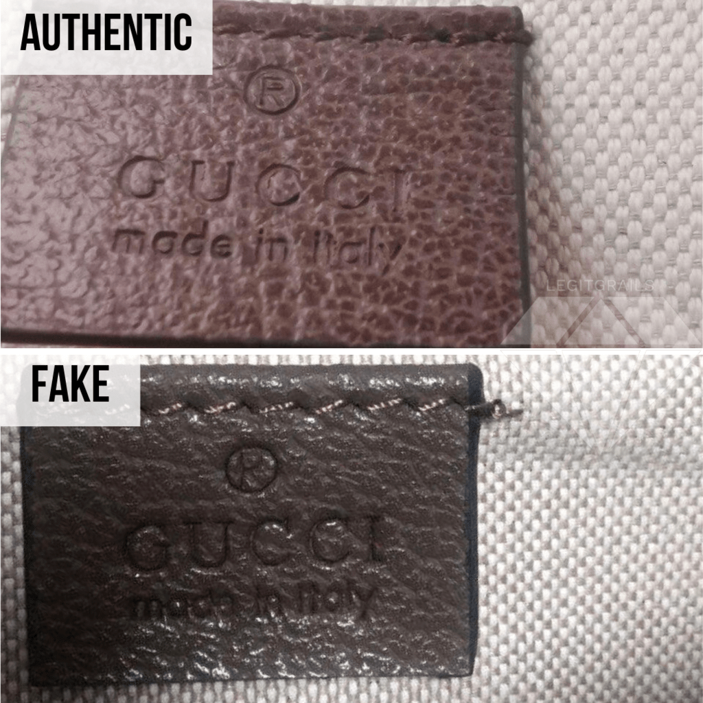 How to authenticate your Gucci bag: Made In Italy Tag