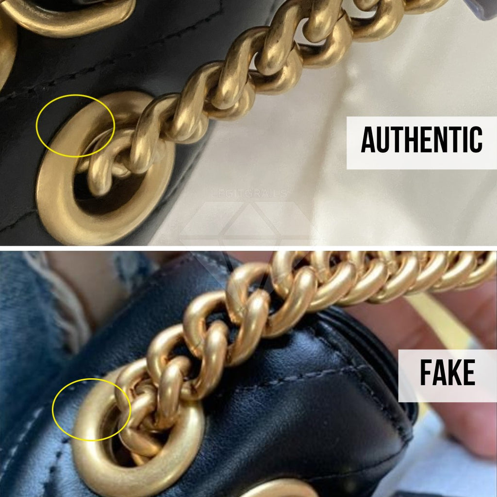 Gucci Marmont Bag Fake vs Real Guide: The Chain Method