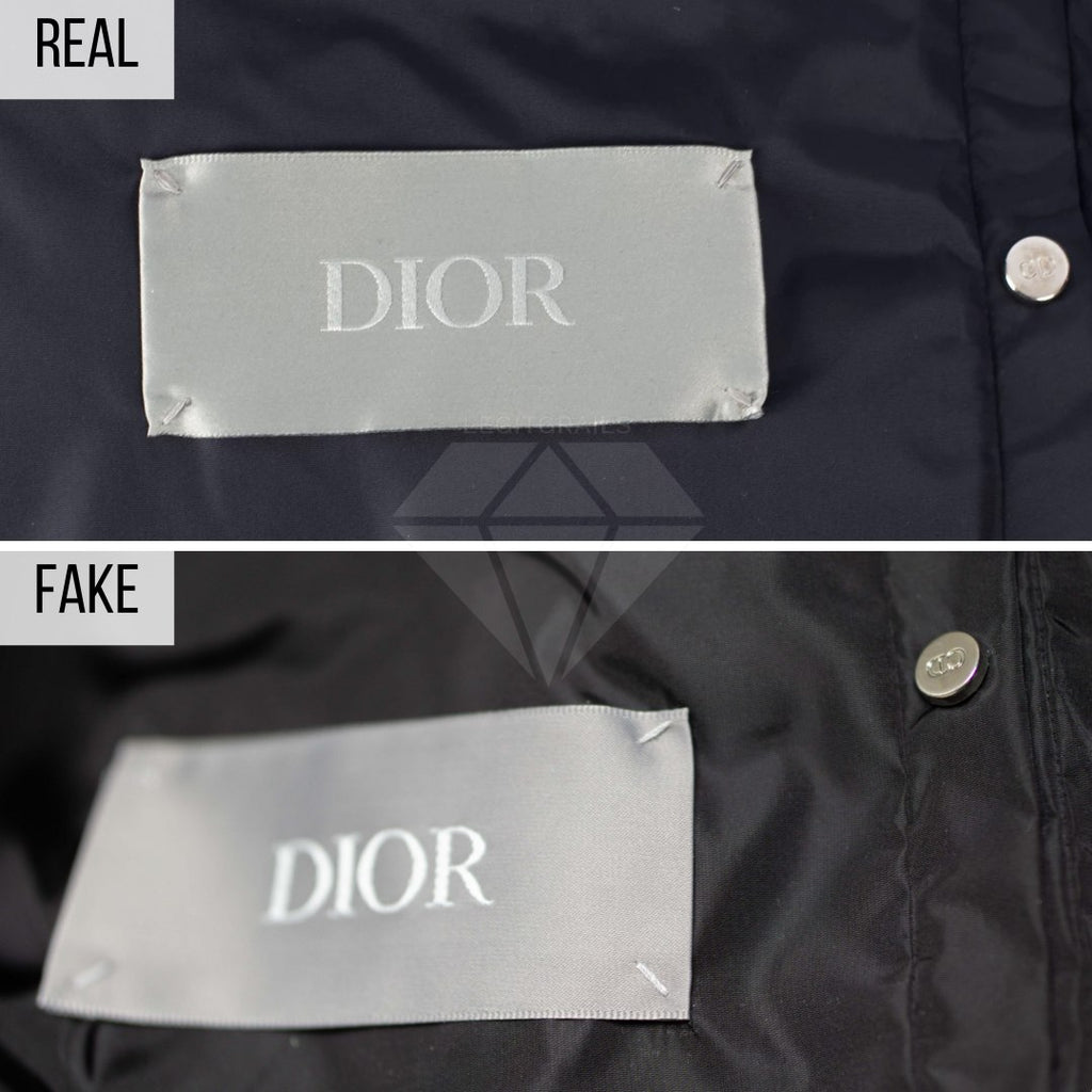 Dior Puffer Jacket Fake VS Real Guide: The Tag Method