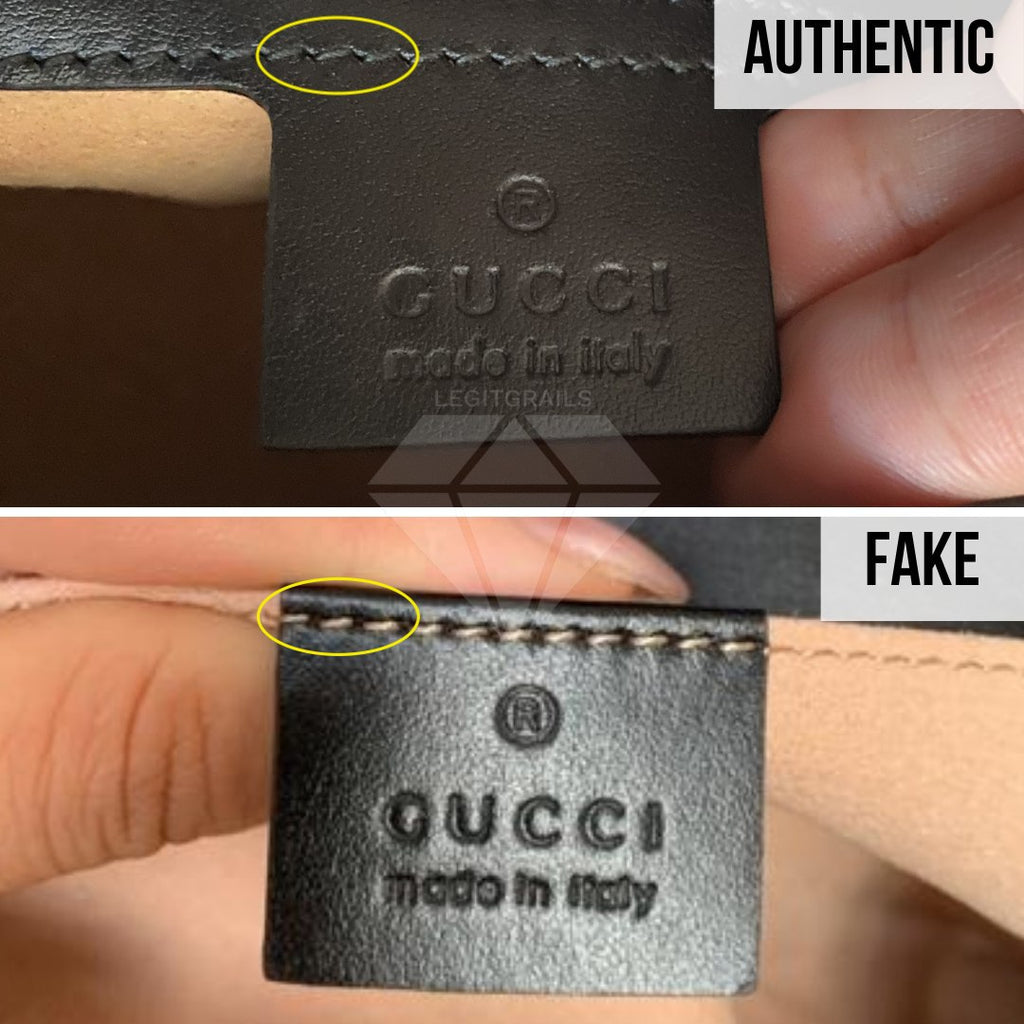 Gucci Marmont Bag Fake vs Real Guide: The Label Method