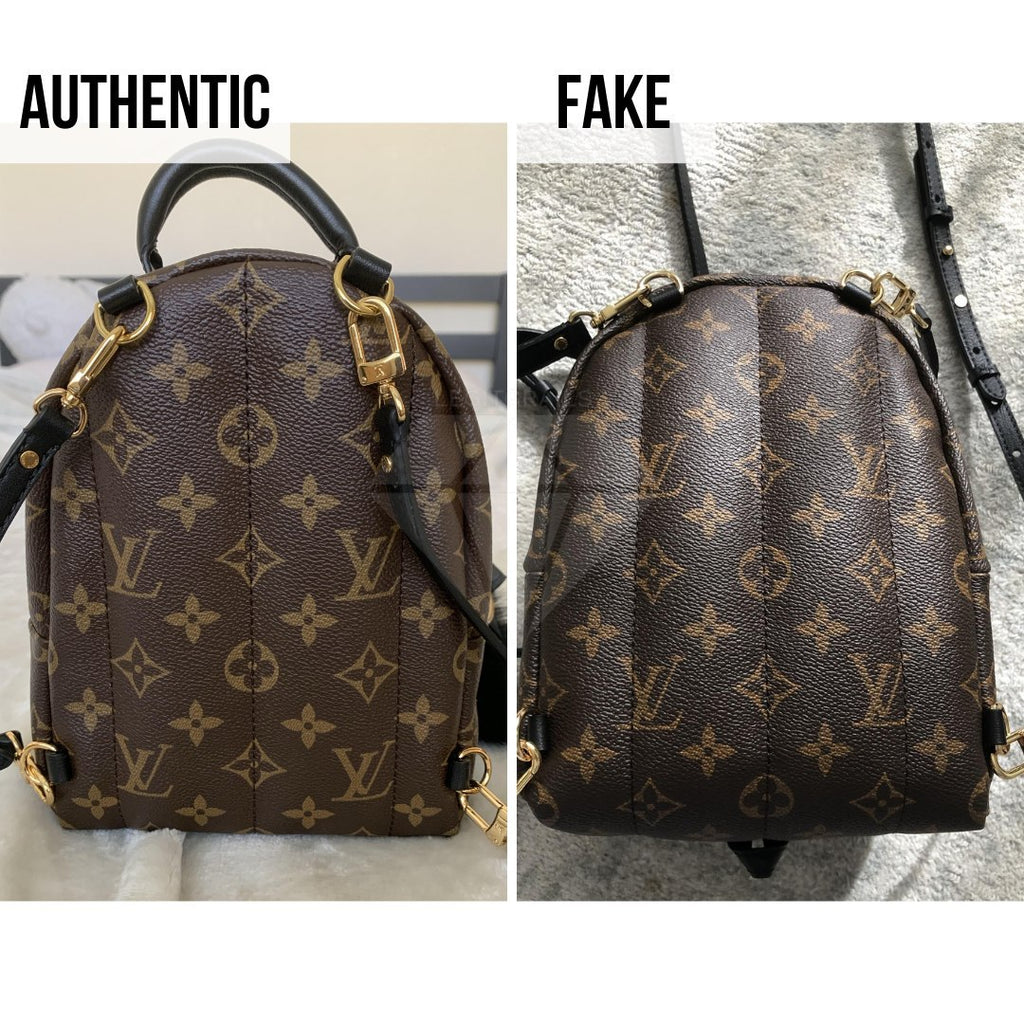 How To Tell If Louis Vuitton Palm Springs Mini Is Authentic: The Backsides Method