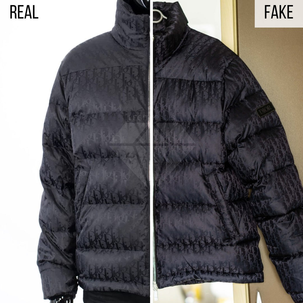 Dior Puffer Jacket Fake VS Real Guide: The General Look Method