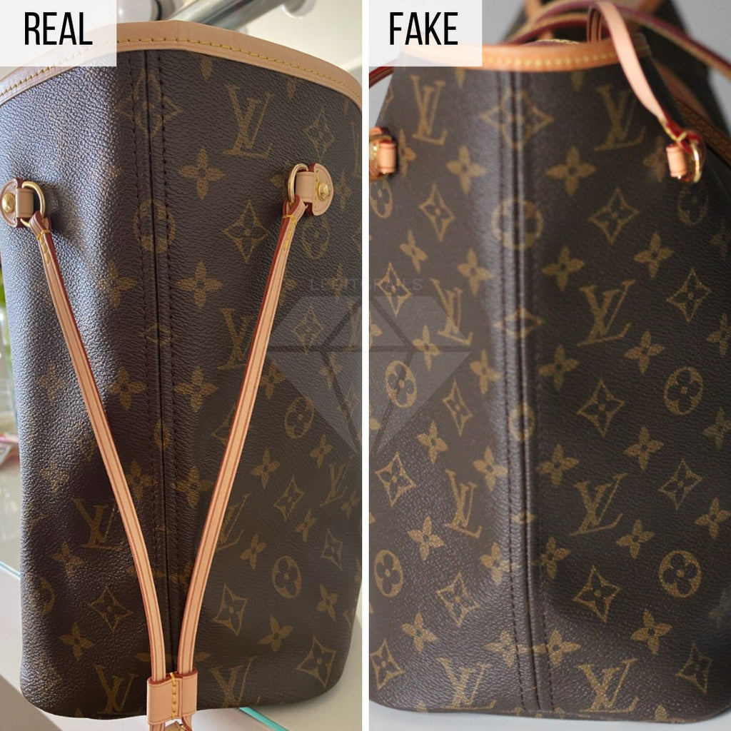 How To Spot a Fake Louis Vuitton Neverfull MM: The Sides Method
